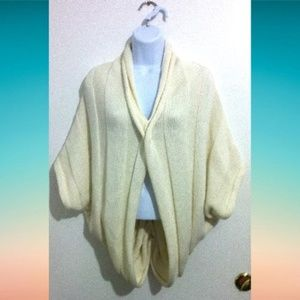 Women's Knit Cardigan Sweater Vest Size M Cream